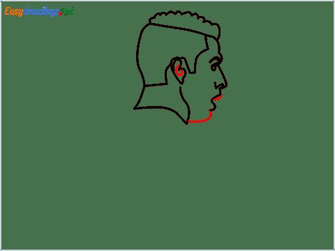 how to draw Cristiano Ronaldo cr7 step (7)