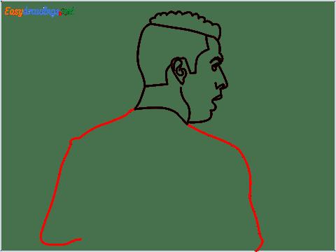 how to draw Cristiano Ronaldo cr7 step (8)