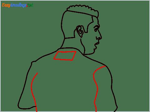 how to draw Cristiano Ronaldo cr7 step (9)
