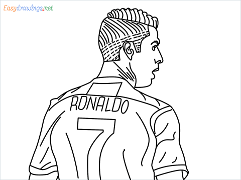 how to draw Cristiano Ronaldo cr7 step by step for beginners