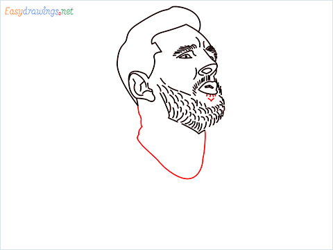 how to draw Lionel Messi step (10)