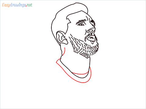 how to draw Lionel Messi step (11)