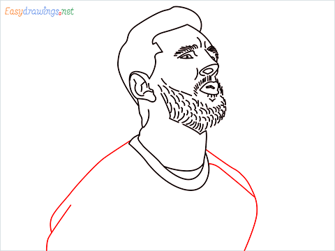 how to draw Lionel Messi step (12)