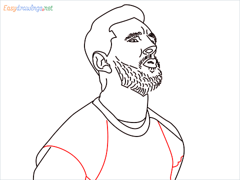 how to draw Lionel Messi step (13)