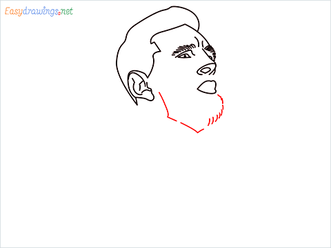 how to draw Lionel Messi step (7)