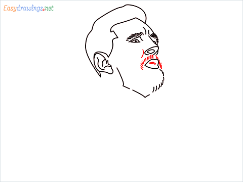 how to draw Lionel Messi step (8)