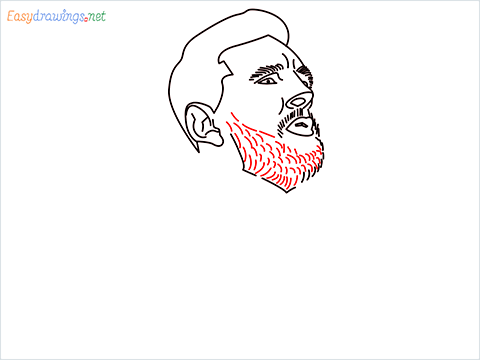 how to draw Lionel Messi step (9)