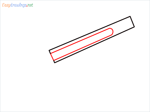 how to draw M1887 Short Gun step (2)