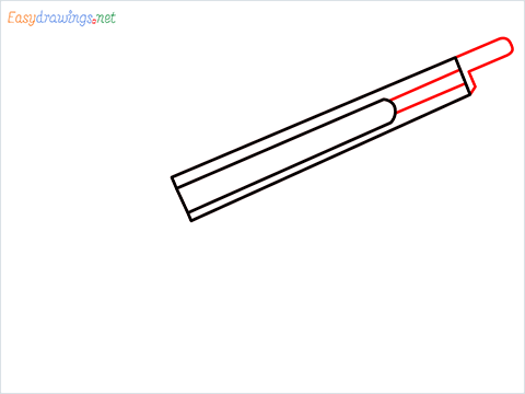 how to draw M1887 Short Gun step (3)