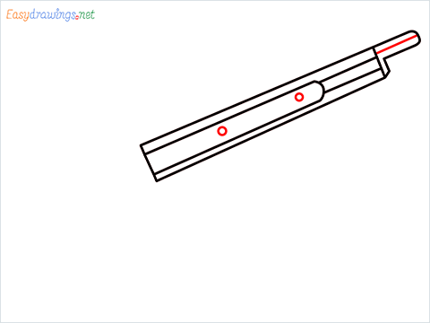 how to draw M1887 Short Gun step (4)