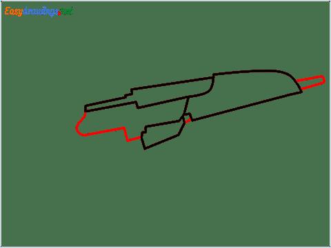how to draw XM8 GUN step (3)