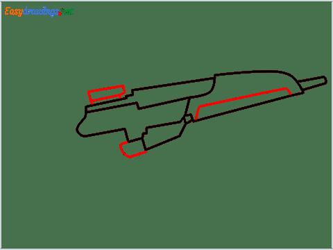 how to draw XM8 GUN step (4)