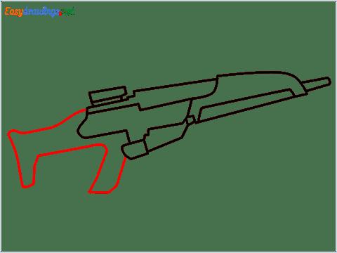 how to draw XM8 GUN step (5)