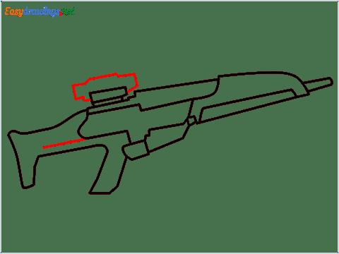 how to draw XM8 GUN step (6)