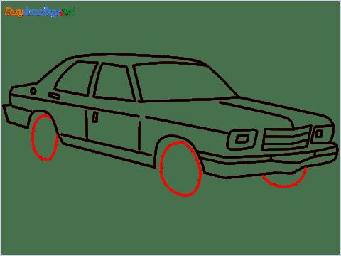 how to draw a Contessa car step (10)