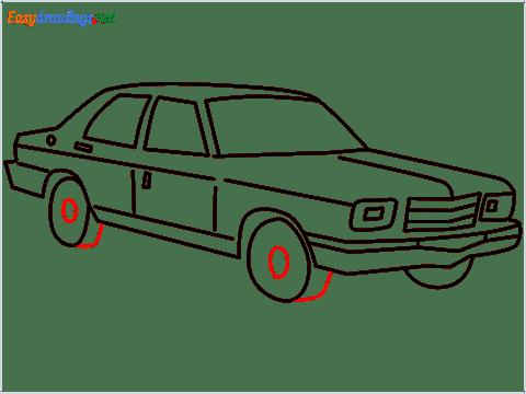 how to draw a Contessa car step (11)