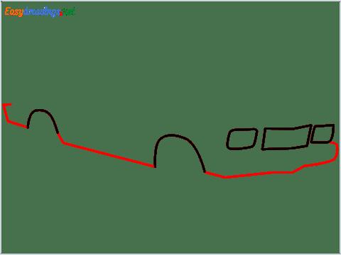 how to draw a Contessa car step (3)