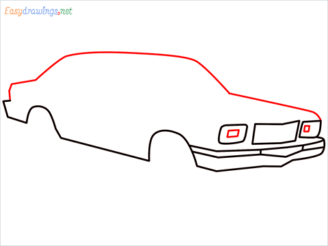 how to draw a Contessa car step (5)