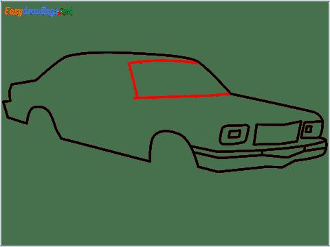 how to draw a Contessa car step (6)