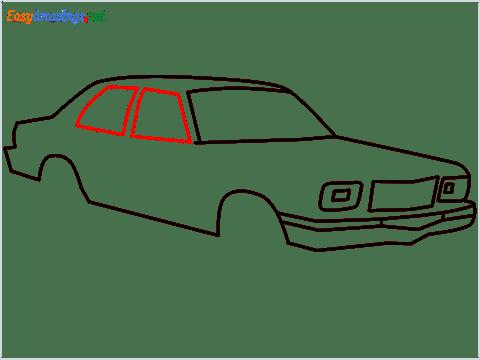 how to draw a Contessa car step (7)