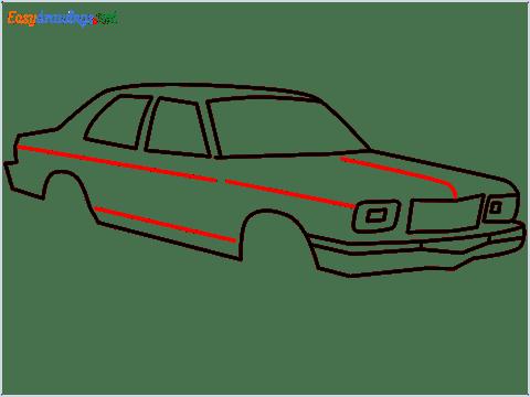 how to draw a Contessa car step (8)