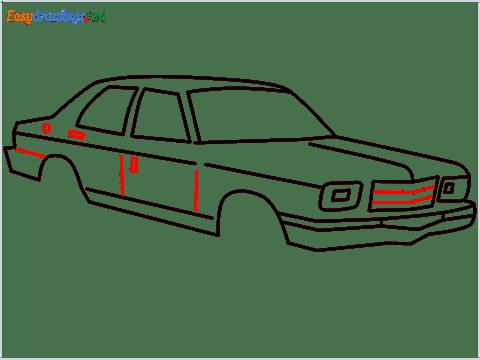 how to draw a Contessa car step (9)