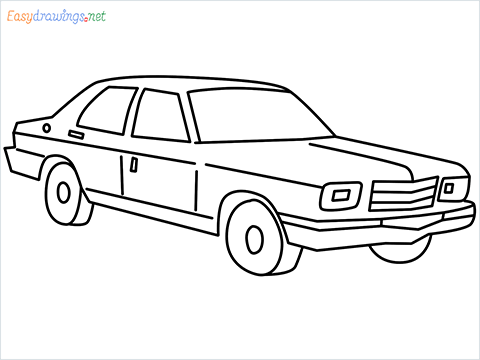 how to draw a Contessa car step by step for beginners