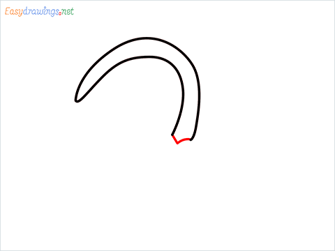 how to draw a Sickle step (3)