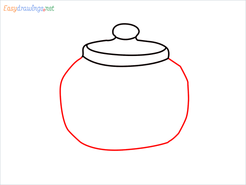 how to draw a Teapot step (4)