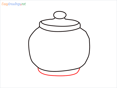 how to draw a Teapot step (5)