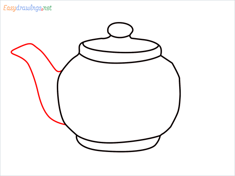how to draw a Teapot step (6)