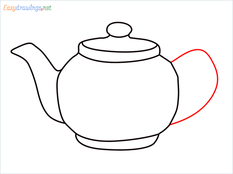 how to draw a Teapot step (7)