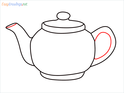 how to draw a Teapot step (8)