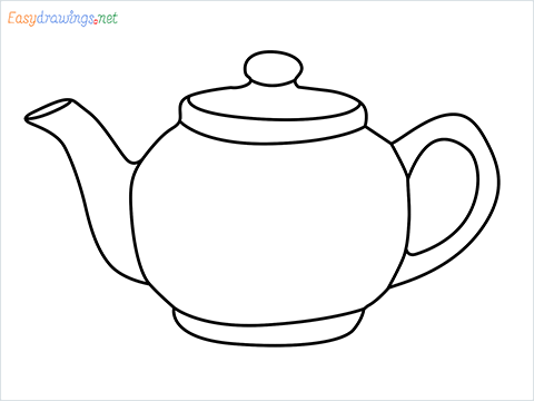 how to draw a Teapot step by step for beginners