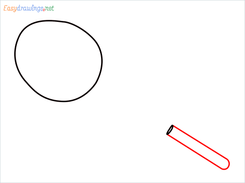 how to draw a badminton racket step (3)