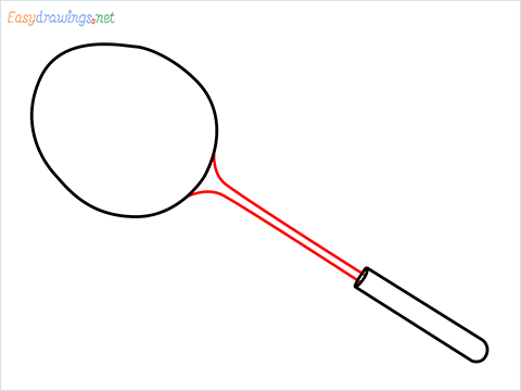 how to draw a badminton racket step (4)