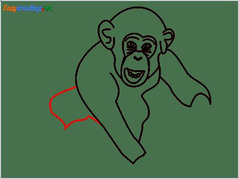 how to draw a chimpanzee step (10)