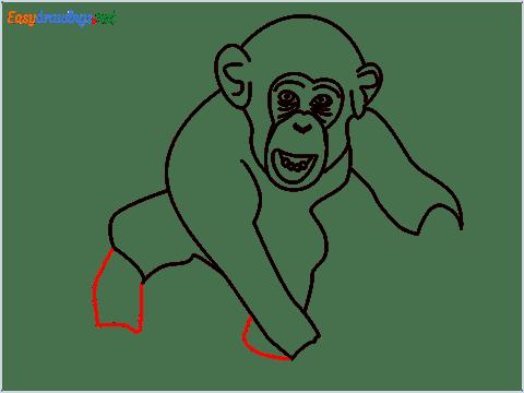how to draw a chimpanzee step (11)
