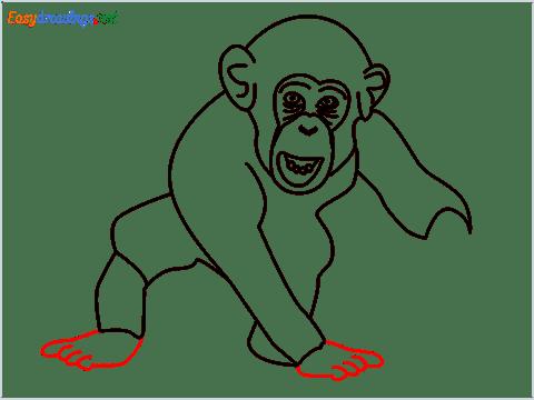 how to draw a chimpanzee step (12)