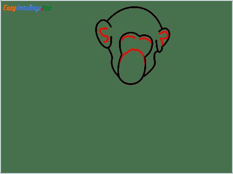 how to draw a chimpanzee step (4)