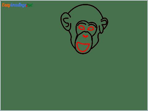 how to draw a chimpanzee step (5)