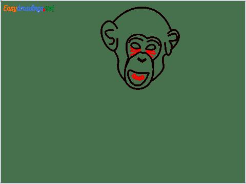 how to draw a chimpanzee step (6)