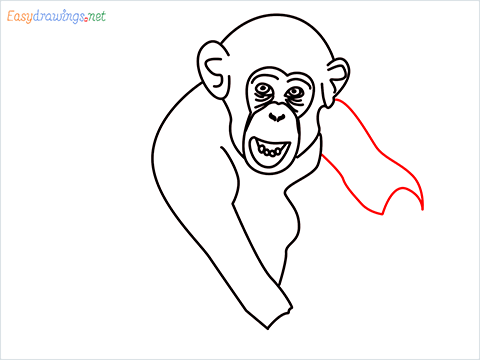 how to draw a chimpanzee step (9)