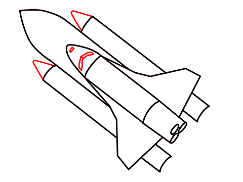 how to draw a easy rocket step (8)