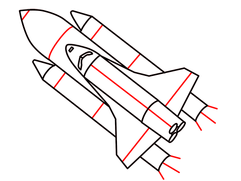 how to draw a easy rocket step (9)