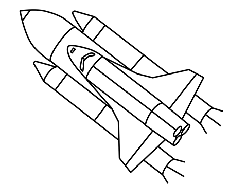 how to draw a easy rocket step by step for beginners