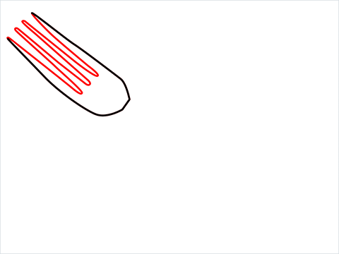 how to draw a fork step (2)