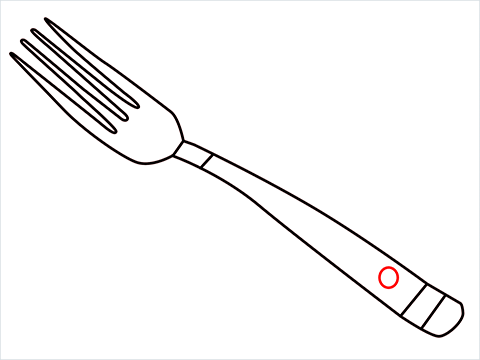 how to draw a fork step (5)