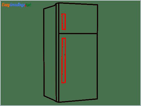 how to draw a fridge step (4)