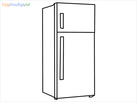 how to draw a fridge step by step for beginners